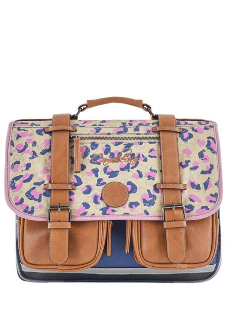 Satchel For Girl 2 Compartments Cameleon Multicolor vintage fantasy VIG-CA38