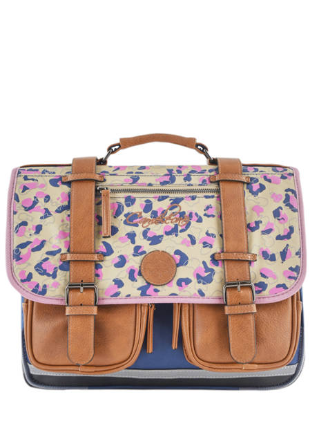 Cartable Fille 2 Compartiments Cameleon Multicolore vintage print girl VIG-CA38