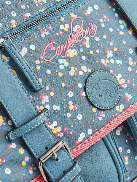 Satchel For Girl 2 Compartments Cameleon Blue vintage fantasy CA38 other view 4