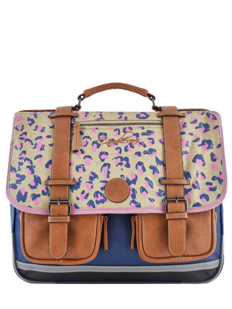 Cartable Fille 3 Compartiments Cameleon Multicolore vintage print girl VIG-CA41