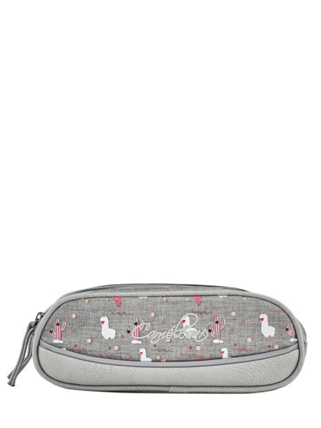 Pencil Case For Girls 2 Compartments Cameleon Gray vintage fantasy VIG-TROU