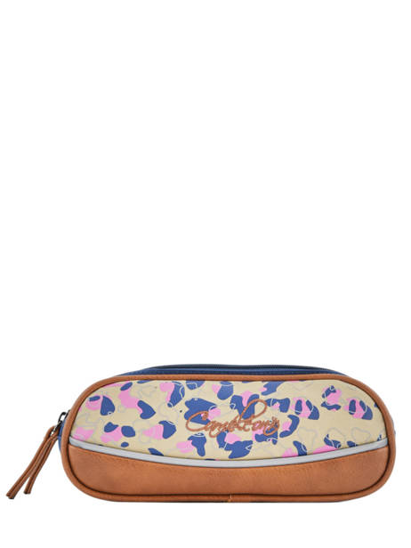 Pencil Case For Girls 2 Compartments Cameleon Multicolor vintage fantasy VIG-TROU