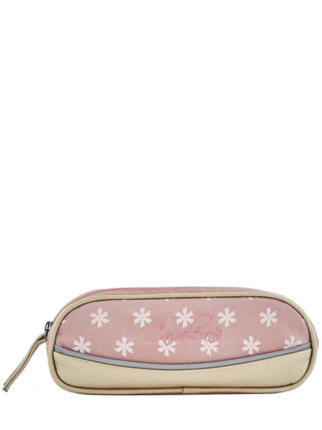 Trousse Fille 2 Compartiments Cameleon Rose vintage print girl VIG-TROU