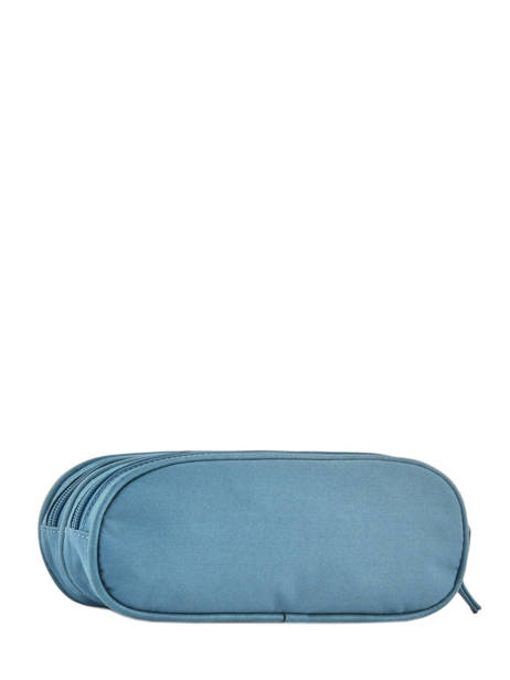 Pencil Case For Girls 2 Compartments Cameleon Blue vintage print girl VIG-TROU other view 2