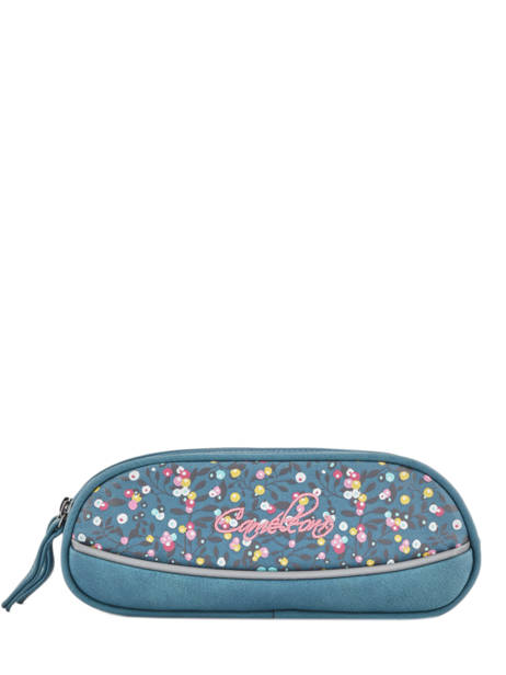 Pencil Case For Girls 2 Compartments Cameleon Blue vintage fantasy VIG-TROU
