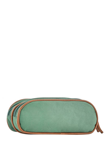 Pencil Case For Girls 2 Compartments Cameleon Green vintage fantasy VIG-TROU other view 2