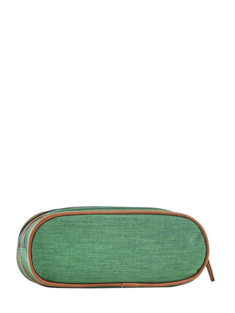 Pencil Case For Kids 2 Compartments Cameleon Green vintage chine VIN-TROU other view 2