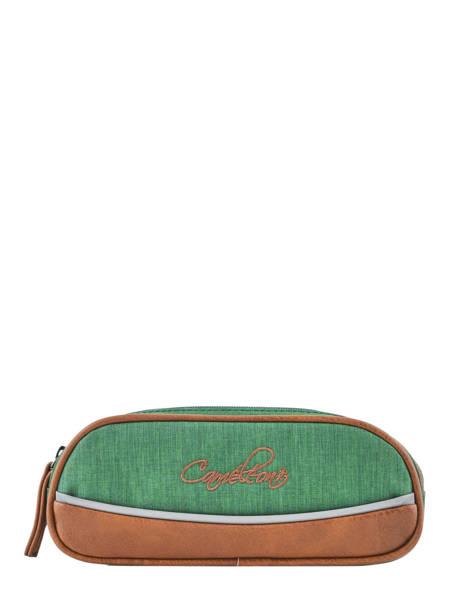 Pennenzak Kind 2 Compartimenten Cameleon Groen vintage chine VIN-TROU