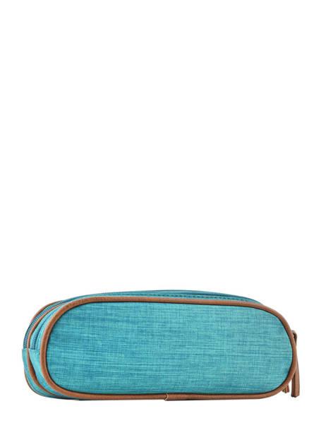 Pencil Case For Kids 2 Compartments Cameleon Blue vintage chine VIN-TROU other view 2
