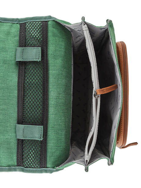 Backpack For Kids 2 Compartments Cameleon Green vintage chine VIN-SD38 other view 4