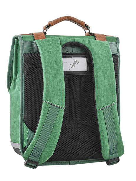 Backpack For Kids 2 Compartments Cameleon Green vintage chine VIN-SD38 other view 3