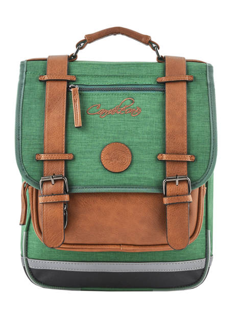 Backpack For Kids 2 Compartments Cameleon Green vintage chine VIN-SD38