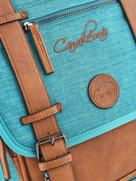 Backpack For Kids 2 Compartments Cameleon Blue vintage chine VIN-SD38 other view 2