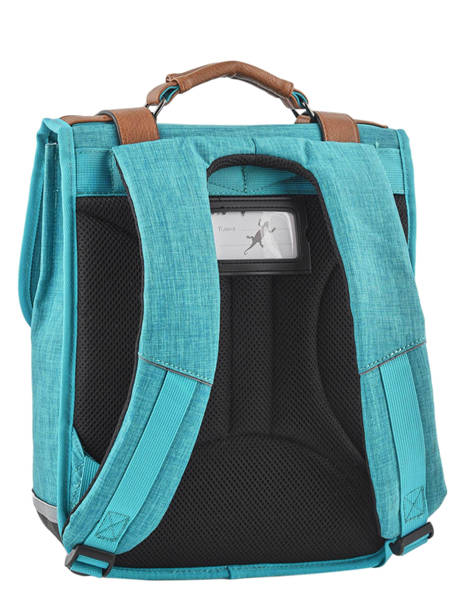 Backpack For Kids 2 Compartments Cameleon Blue vintage chine VIN-SD38 other view 4