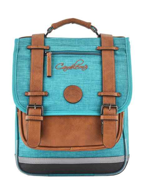 Backpack For Kids 2 Compartments Cameleon Blue vintage chine VIN-SD38