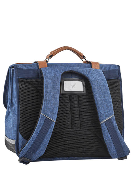 Satchel For Kids 3 Compartments Cameleon Blue vintage chine VIN-CA41 other view 5