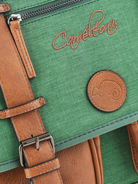 Satchel For Kids 3 Compartments Cameleon Green vintage chine VIN-CA41 other view 1