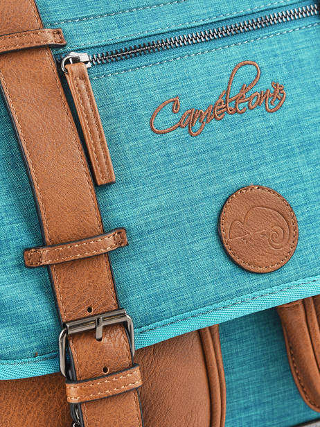 Satchel For Kids 2 Compartments Cameleon Blue vintage chine VIN-CA38 other view 1