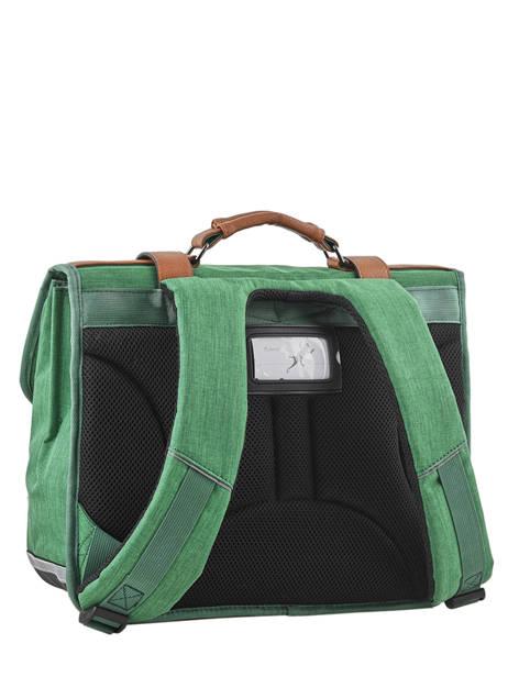 Cartable Enfant 2 Compartiments Cameleon Vert vintage chine VIN-CA35 vue secondaire 4