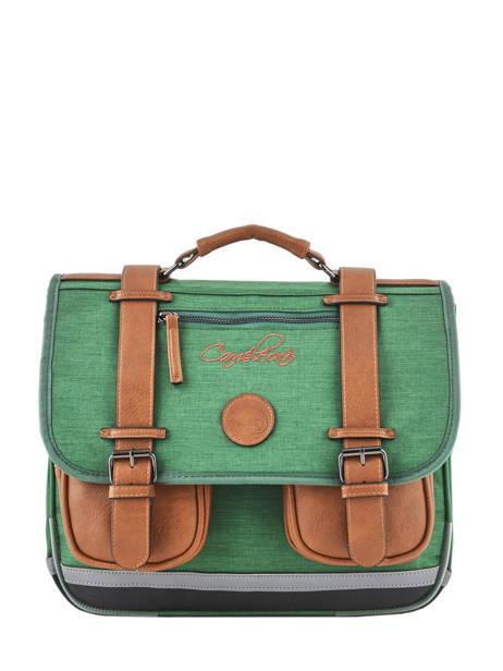Cartable Enfant 2 Compartiments Cameleon Vert vintage chine VIN-CA35