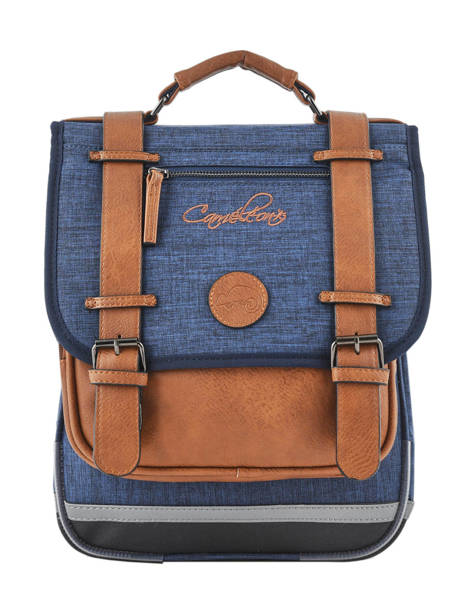 Backpack For Kids 2 Compartments Cameleon Blue vintage chine VIN-SD38