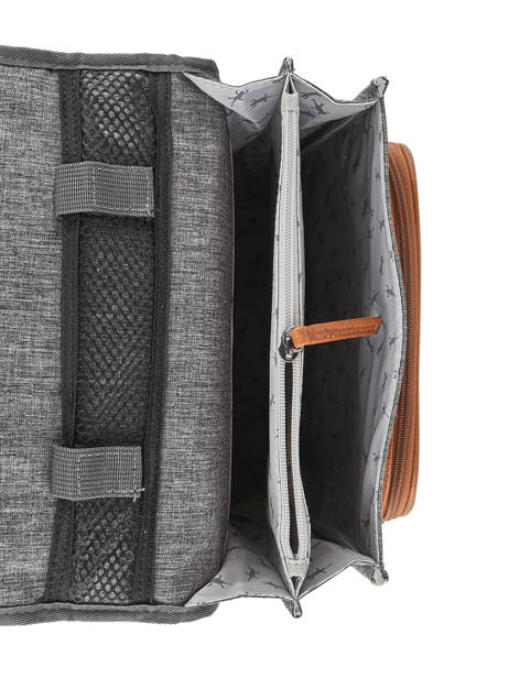Backpack For Boys 2 Compartments Cameleon Gray vintage print boy VIB-SD38 other view 6
