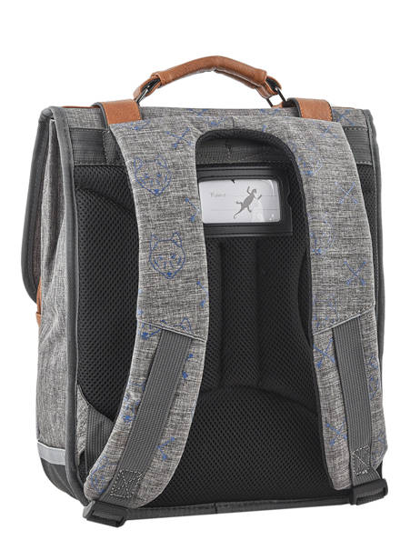 Backpack For Boys 2 Compartments Cameleon Gray vintage print boy VIB-SD38 other view 5