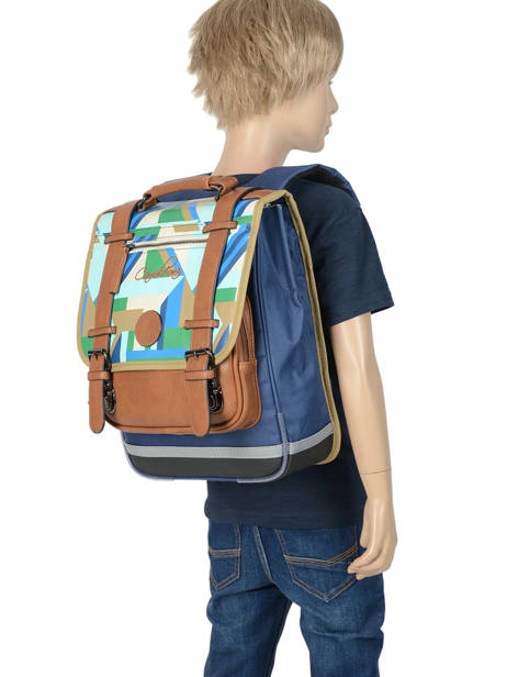 Backpack For Boys 2 Compartments Cameleon Multicolor vintage urban VIB-SD38 other view 3