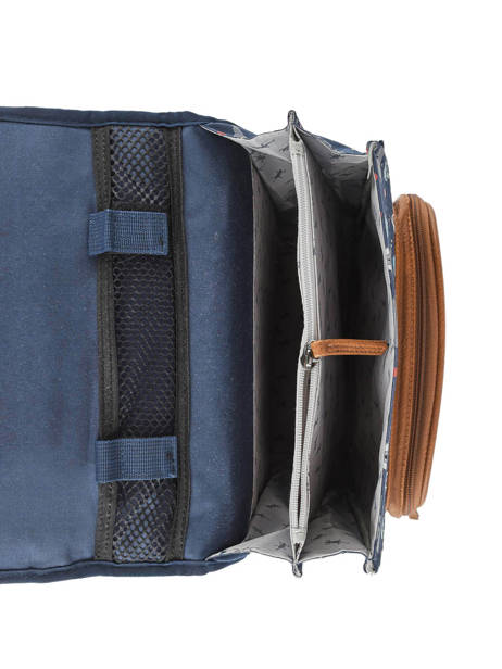 Backpack For Boys 2 Compartments Cameleon Blue vintage urban VIB-SD38 other view 6