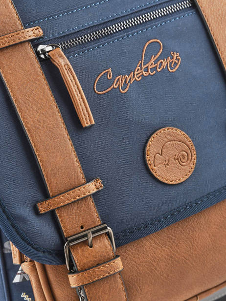 Backpack For Boys 2 Compartments Cameleon Blue vintage urban VIB-SD38 other view 2
