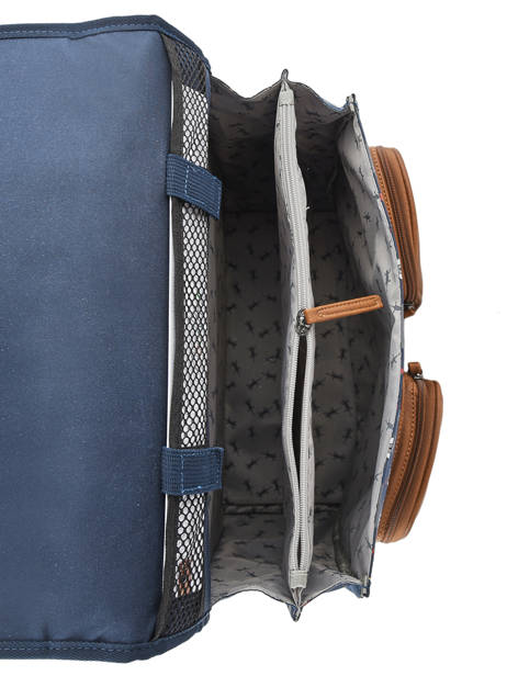 Wheeled Schoolbag For Boys 2 Compartments Cameleon Blue vintage urban VIB-CR38 other view 6