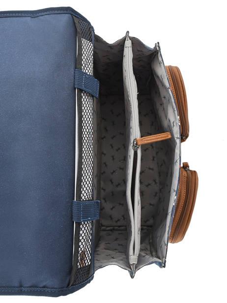 Cartable à Roulettes Enfant 2 Compartiments Cameleon Bleu vintage urban CR38 vue secondaire 6