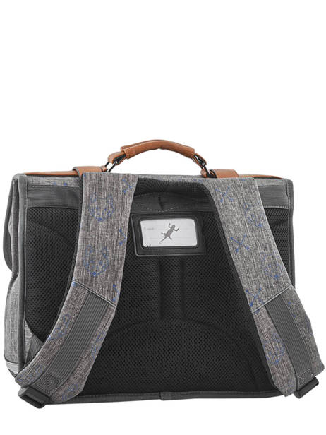 Satchel For Boys 2 Compartments Cameleon Gray vintage print boy VIB-CA38 other view 5
