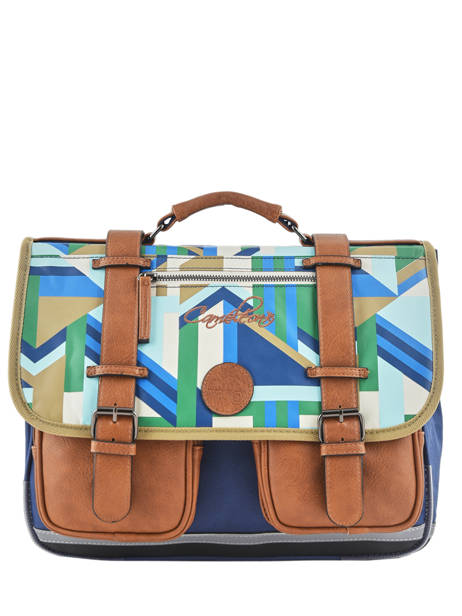 Satchel For Boys 2 Compartments Cameleon Multicolor vintage print boy VIB-CA38