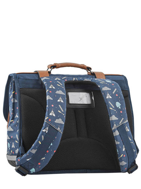 Satchel For Boys 2 Compartments Cameleon Blue vintage urban VIB-CA38 other view 5