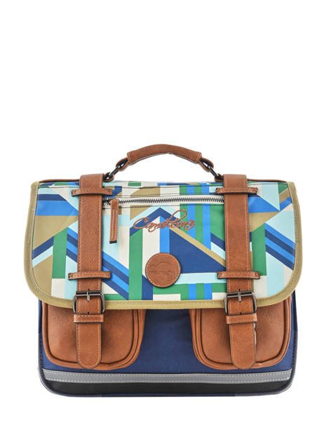 Satchel For Boys 2 Compartments Cameleon Multicolor vintage print boy VIB-CA35