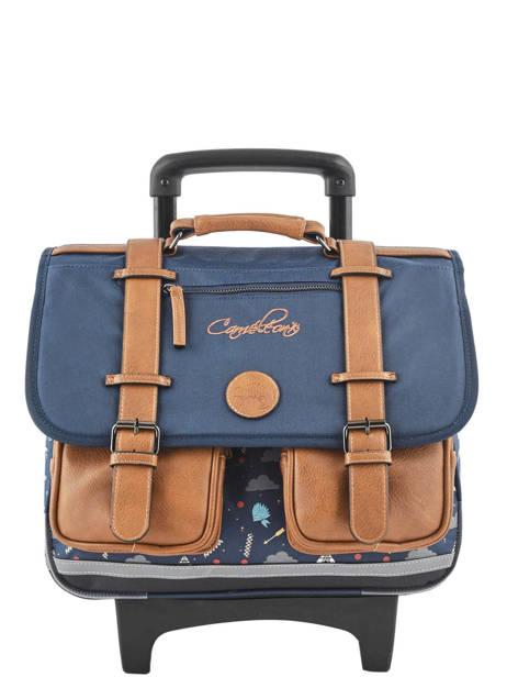 Wheeled Schoolbag For Boys 2 Compartments Cameleon Blue vintage urban VIB-CR38