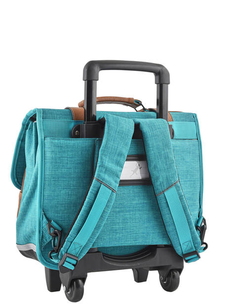 Wheeled Schoolbag For Kids 2 Compartments Cameleon Blue vintage chine VIN-CR38 other view 4