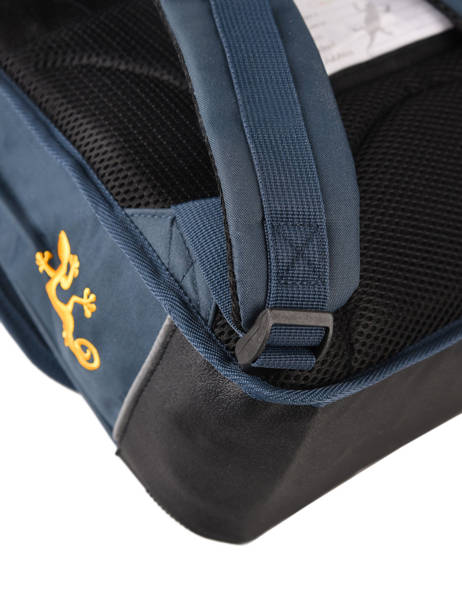 Satchel For Kids 3 Compartments Cameleon Blue actual BAS-CA41 other view 2
