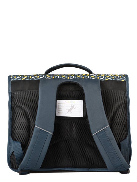 Satchel For Kids 3 Compartments Cameleon Blue actual BAS-CA41 other view 5
