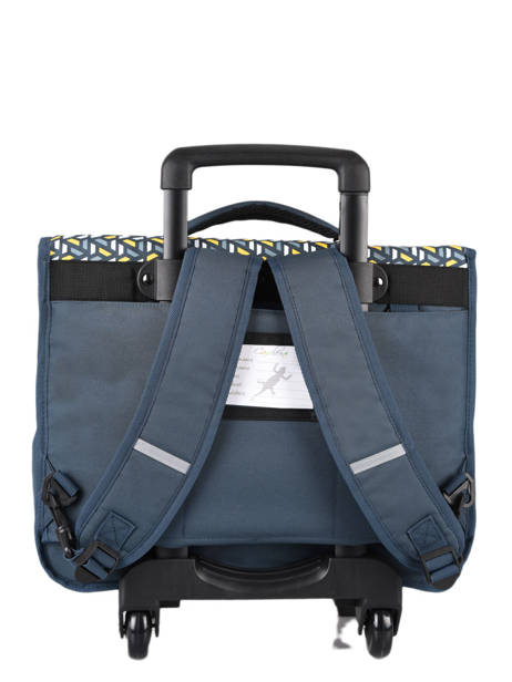 Wheeled Schoolbag For Kids 2 Compartments Cameleon Blue basic BAS-CR38 other view 4