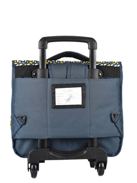 Wheeled Schoolbag For Kids 2 Compartments Cameleon Blue basic BAS-CR38 other view 5