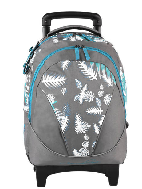 Wheeled Backpack For Kids 2 Compartments Cameleon Gray basic BAS-SR43