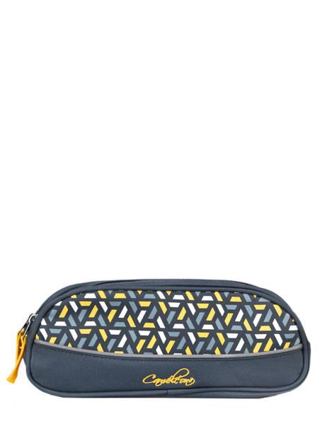 Pencil Case For Kids 2 Compartments Cameleon Blue actual TROU