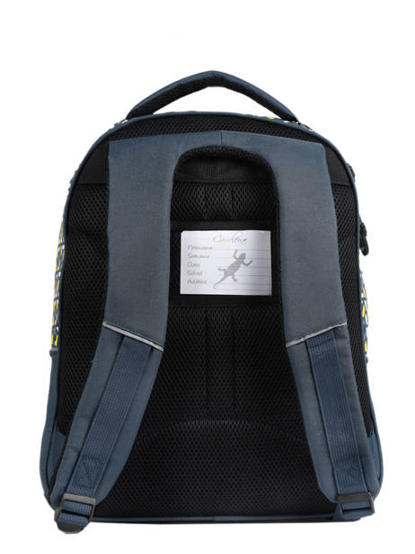 Backpack For Kids 2 Compartments Cameleon Blue actual BAS-SD43 other view 5