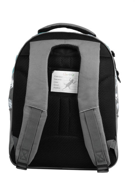 Backpack For Kids 2 Compartments Cameleon Gray basic BAS-SD43 other view 5