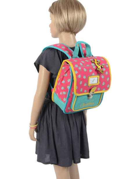 Backpack Cameleon Green retro RET-SD30 other view 2