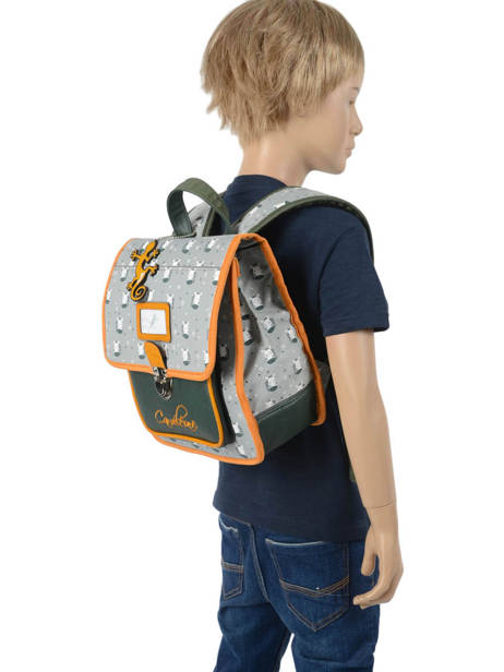 Backpack Cameleon Gray retro RET-SD30 other view 2