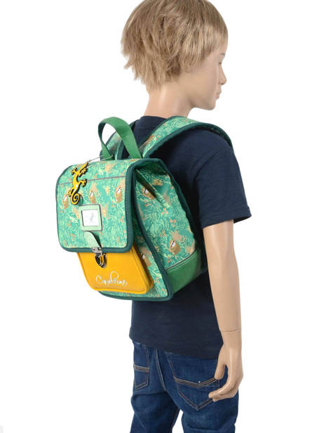 Backpack Cameleon Green retro RET-SD30 other view 3
