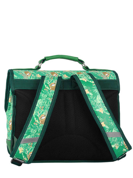 Satchel For Kids 2 Compartments Cameleon Green retro RET-CA35 other view 4